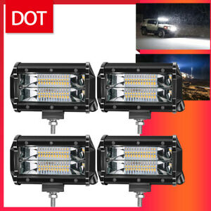 4x 5 Inch Led Off Road Work Light Bar Spot Flood Driving Fog Lights For Kubota
