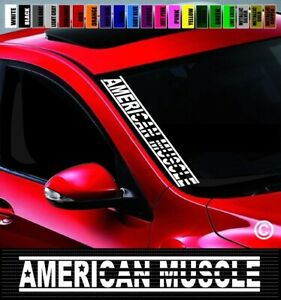 20 American Muscle 1 Flag Side Windshield Banner Car Decal Sticker Racing