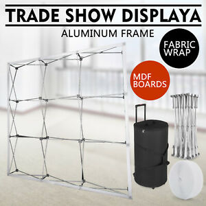 Tension 8 X 8ft Fabric Backdrop Booth Frame Straight Pop Up Display Stand