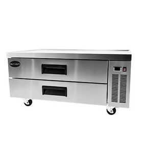 New Heavy Duty 52 2 Drawer Refrigerated Chef Base Cooler W Casters Free Ship