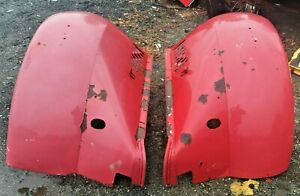 Late 1930 s Early 40 s Antique Mack Fire Truck Pair Front Fenders Old Street Rod