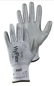 12 Pair Ansell Size 6 Hyflex 15 Gauge Technology Cut Resistant Gloves 11 727
