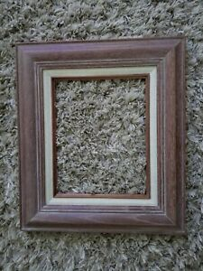 Gorgeous Mid Century Modern Vintage White Washed Oak Wood 8 X 10 Picture Frame