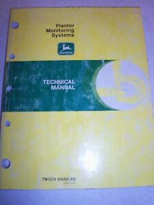 John Deere Planter Monitoring Systems Tm 1270