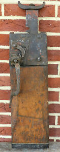 Antique Early 19th C Dated 1814 Decorated Pa German Conestoga Wagon Jack