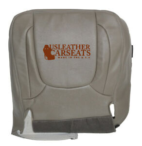 2004 2005 Dodge Ram 1500 Driver Bottom Synthetic Leather Seat Cover Taupe Gray