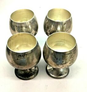 Gorham Sterling Silver 955 Set Of 4 Cordial Cups Shot Glasses