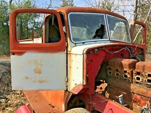 Antique 1940 s Mack Fire Engine Truck Cab Doors Street Rod Custom Rat