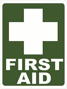 First Aid Sign Size Options Safety Medical Supplies Business Kit Medkit Med