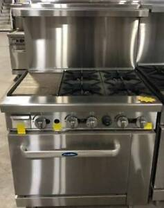 New 36 Range 12 Griddle 4 Burners 1 Full Oven Stove Natural Gas Free Liftgate