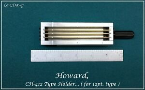 Howard Machine Personalizer Ch 412 Type Holder Hot Foil Stamping Machine