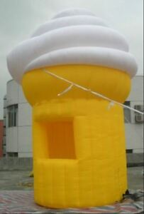 13ft tall Commercial Inflatable Ice Cream Concession Stand Food Tent Booth