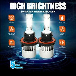 H13 9008 Cree Led Headlight Conversion Kit 1915w 287250lm Hi Lo Beam Bulbs 6000k