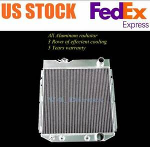 3 Row Aluminum Radiator For 1964 1965 1966 Ford Mustang 260 289 V8 17 core Cc259