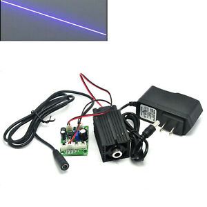 Line Focusable 405nm 200mw Violet blue Laser Module Diode W 12v Adapter