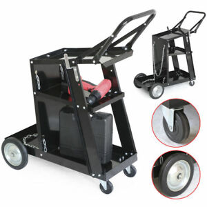 Steel Welder Welding Cart Plasma Cutter Mig Tig Arc Universal Storage W Wheels