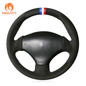 Top Diy Black Soft Suede Steering Wheel Cover For Peugeot 206 2003 206 Cc 2005