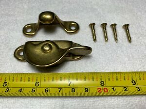 New Antique Vintage Sargent Brass Rotating Window Sash Lock Latches