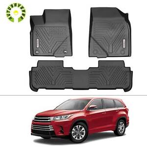 Floor Mats For 2014 2020 Toyota Highlander Full Set Liner All Weather Protection