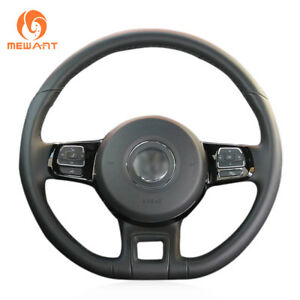 Black Genuine Leather Steering Wheel Cover For Volkswagen Vw Beetle 2012 2019