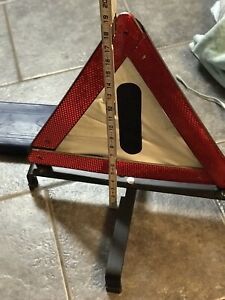 Vintage Germany Ford Zubehor Emergency Hazard Safety Triangle Reflect In Case