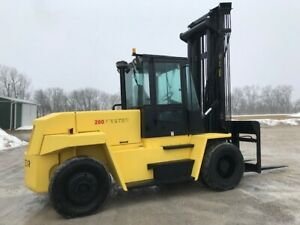 1998 Hyster H280xl 28000 Lb Capacity Pneumatic Tire Forklift Heated Cab