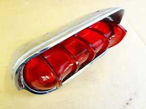 1961 Buick Lesabre Electra Invicta Tail Light Housing Chrome Frame Guide Lens 61