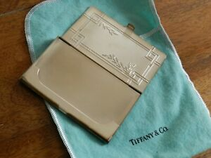 Vtg Sterling Silver 925 Tiffany Co Business Card Case Holder Pouch