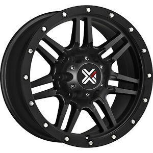 16x8 5 Black Dx4 7s Wheels 6x5 5 18 Fits Chevrolet Tahoe 6 Lug Only Tahoe
