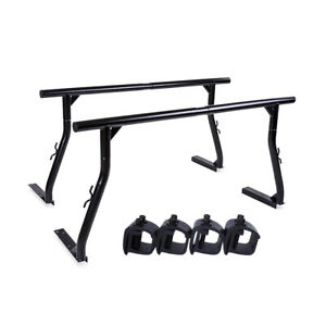 Adjustable Pickup Truck Ladder Rack W Clamps Universal Utility Lumber Contractor