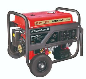 Mitsubishi 7000 Watt Electric Start 392cc Carb Portable Gas Industrial Generator