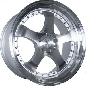 16x8 Silver Aodhan Ah03 Wheels 4x100 4x4 5 15 Fits Ford Mustang 4 Lug Only