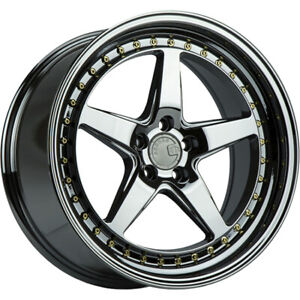 18x10 5 Black Chrome Aodhan Ds05 Wheels 5x4 5 22 Fits Ford Mustang