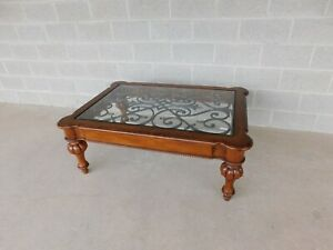 Ethan Allen Regency Style Coffee Cocktail Table