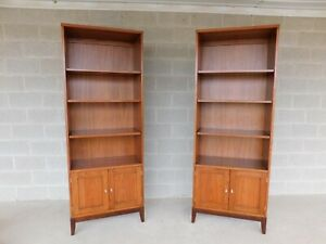 Henkel Harris 493 Cherry Pier Cabinets Open Bookcases A Pair