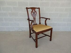 Henkel Harris Chippendale Style Mahogany Arm Chair Model 102a Finish 29