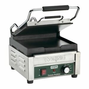 Compact Panini Grill Tostato Perfetto 120v Flat Waring Wfg150