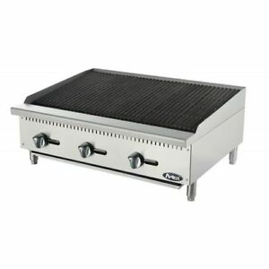 New 36 Lava Rock Char Broiler Commercial Restaurant Duty Nat Gas Free Liftgate