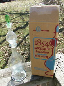 Small 3 Pc Apothecary Pharmacy Drugstore Show Globe Stacking Bottle W Orig Box