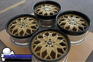 20 Amani Forged Motiva Gold Black Wheels Rims Corvette Camaro 20x9 20x11 5x120