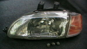 1992 1995 Honda Civic Front Driver Left Headlight Parking Light Oem 001 6618