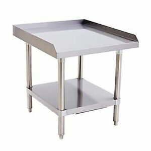 Stainless Steel Equipment Stand 24 Long X 28 Deep X 24 Height Adj Undershelf