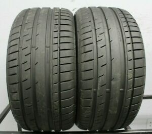 Two Used 255 40zr18 2554018 Continental Extreme Contact Dw Tuned 10 32 M285