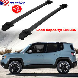 For Jeep Renegade 2014 2017 Car Top Roof Rack Cross Bar Cargo Carrier Adjustable