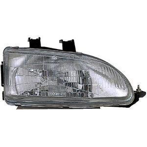 Right Side Headlight Assembly For Honda Civic 1992 1993 1994 1995