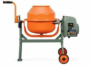 Concrete Small Cement Mixer 1 6 Cubic Feet Compact Portable Low Profile Height