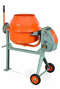 Portable Concrete Cement Mixer Heavy Duty 4 0 Cubic Feet Low Profile Height New