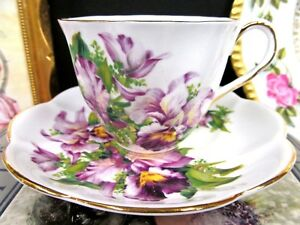 Salisbury Tea Cup And Saucer Orchid Floral Teacup Cup Saucer Br