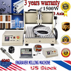 Usb 3 Axis 1500w Vfd Router 6040gz Engraver Engraving Machine Milling Drilling