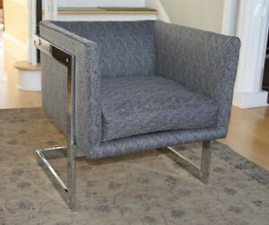 Mid Century Milo Baughman For Thayer Coggin Vintage Floating Cube Chair